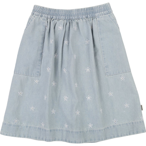 177c7c10ad LITTLE MARC JACOBS. Little Marc Jacobs Embroidered Daisy Denim Skirt