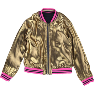 Little Marc Jacobs Reversible Sateen Bomber Jacket