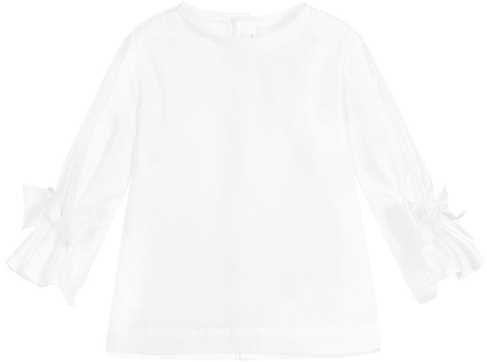 Il Gufo CL157 Ribbon Detail Long Sleeve Top