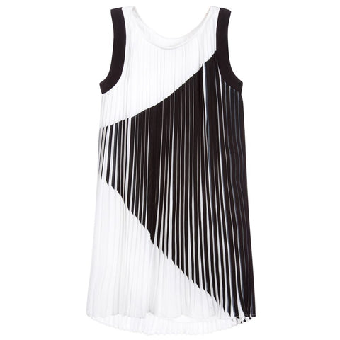 Lagerfeld Kids Z12080 Pleated Sleeveless Dress