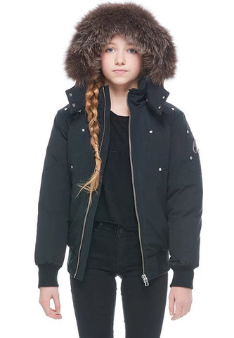 Moose Knuckles Fur Hooded Bomber
