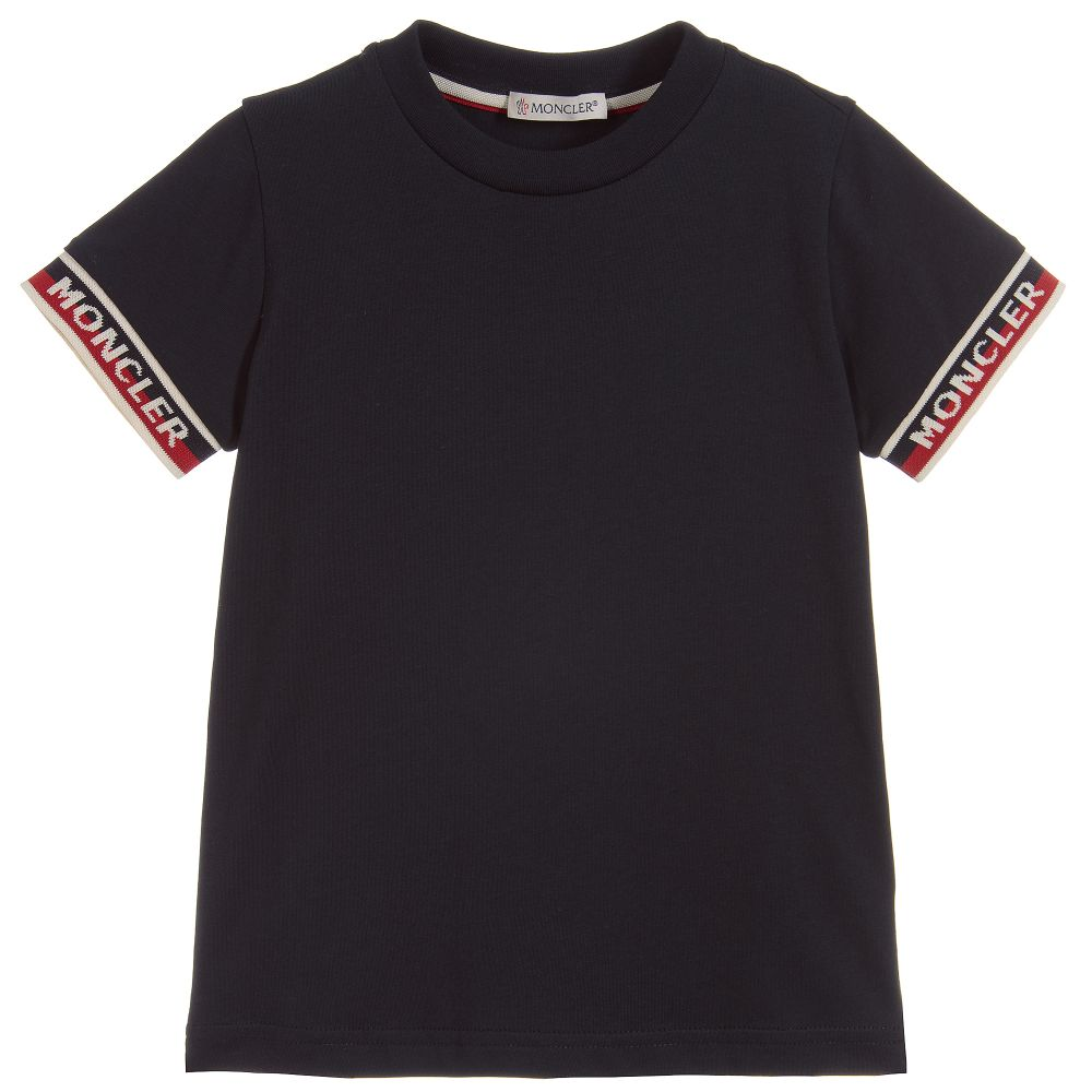 95c843245 Moncler Maglia Tee Shirt with Ribbed Sleeve Trim