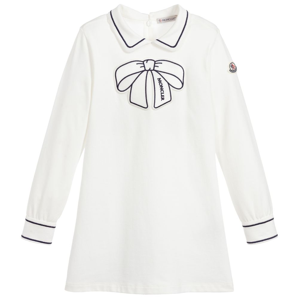Moncler Long Sleeve Bow Dress