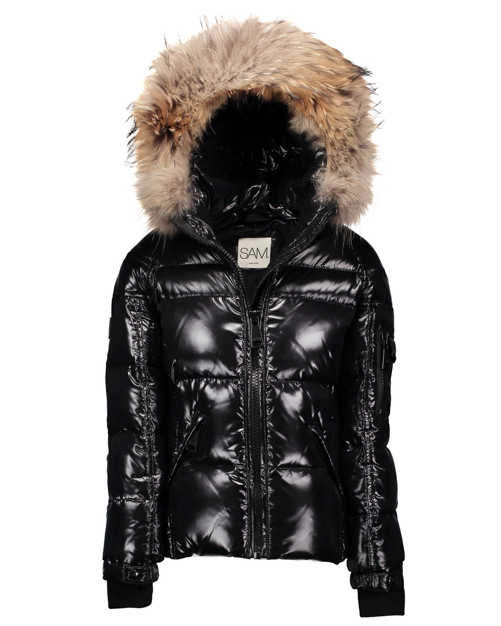 SAM. Blake Quilted Down Jacket w/Fur