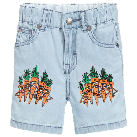 Stella McCartney Carrot Chambray Shorts