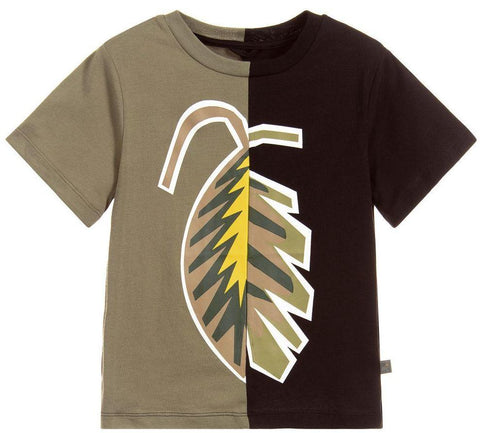 Stella McCartney Colorblock Leaf Tee Shirt