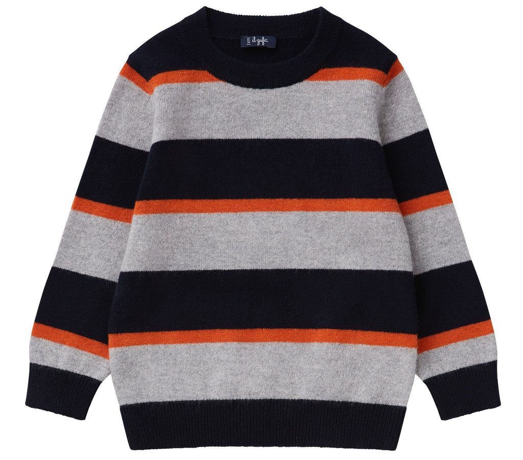 Il Gufo MA279 Striped Crewneck Sweater