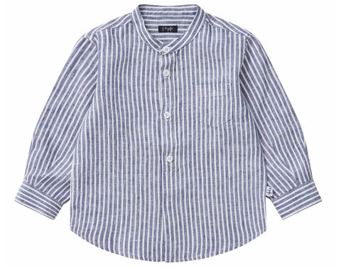 Il Gufo CL016 Collarless Linen Shirt