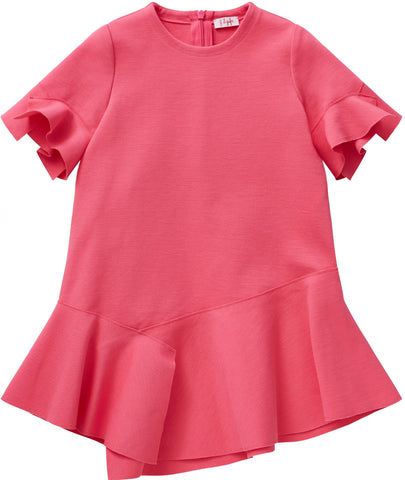 Il Gufo VM513 Short Sleeve Ruffle Dress