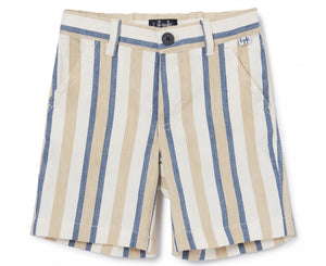 Il Gufo Toddler Striped Linen Shorts