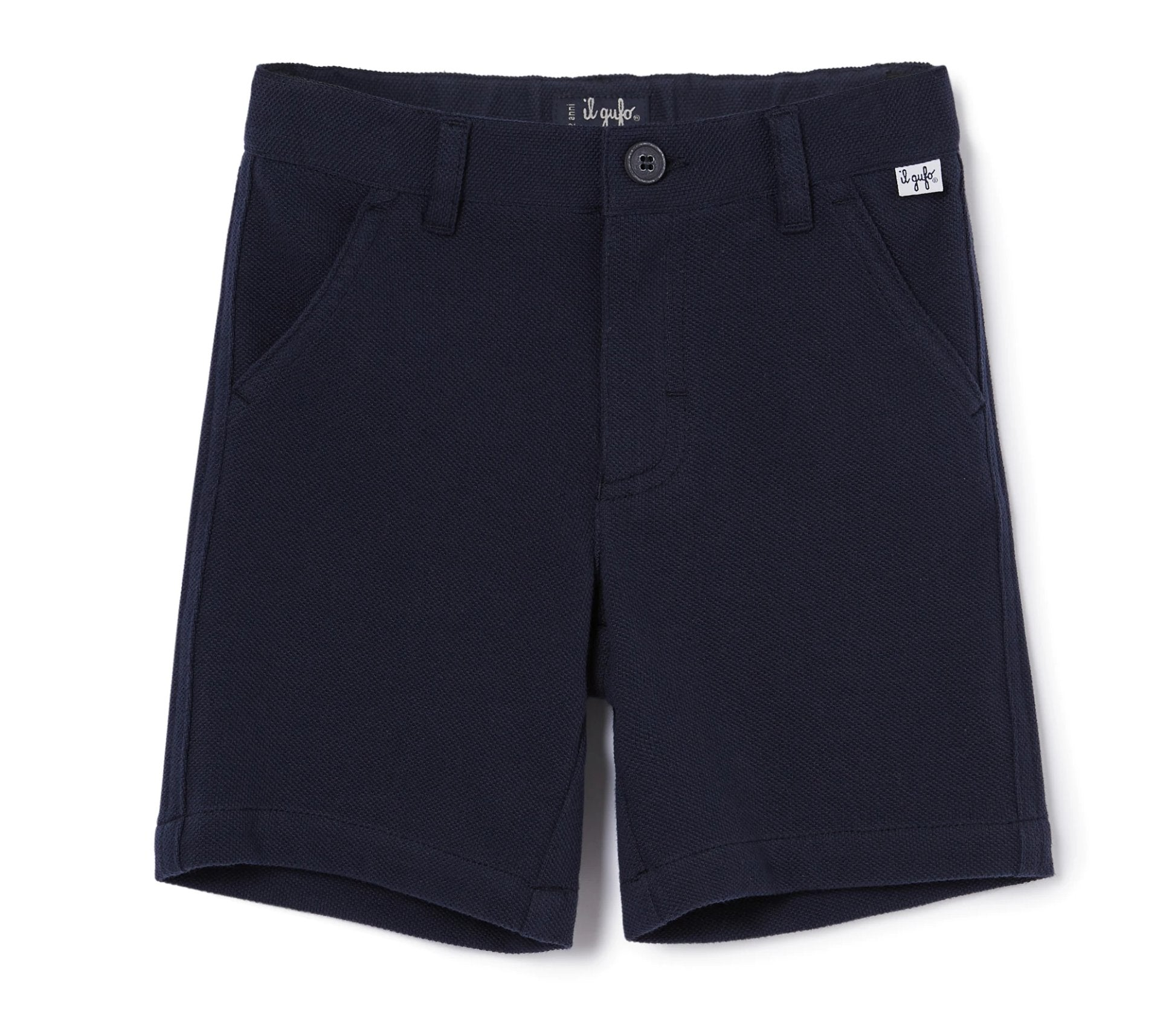 Il Gufo Toddler Soft Pique Shorts