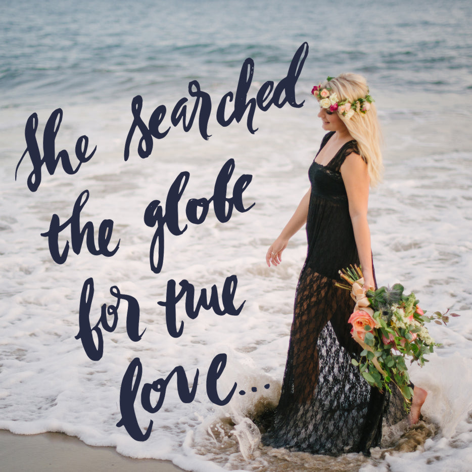 Wanderlust Bride Brush Lettering Beach Wedding Travel Destination