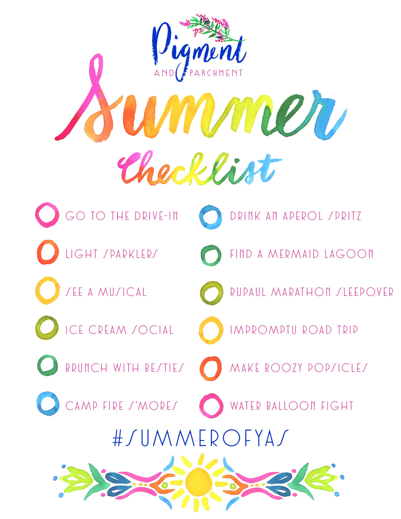 Summer Checklist Fun Ideas Rainbow Travel California Summertime