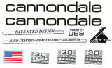 1989 Cannondale Decal (Mountain, Road Race and Criterium) 3.0 Series