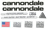 1990 Cannondale Decal 3.0 (Mountain, Road Race and Criterium) Series