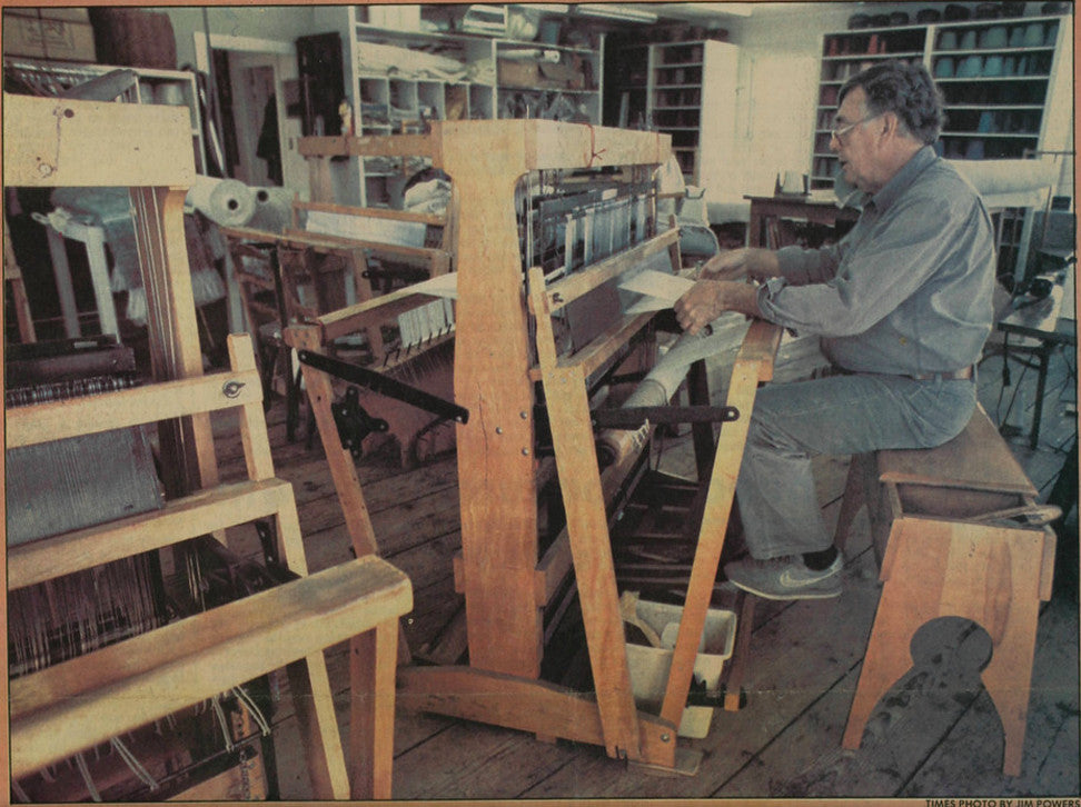 Nantucket Looms Weaver Andy circa 1970
