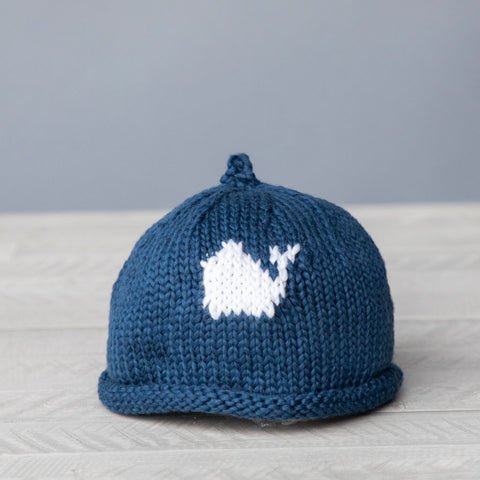 White Whale Baby Hat