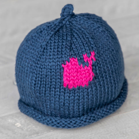 Pink Whale Baby Hat