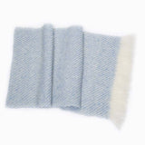 French Blue Handwoven Mohair Wrap