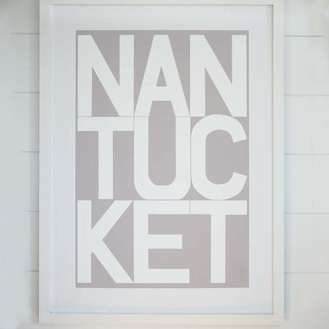 Gray Nantucket Archival Print | Liz Roache