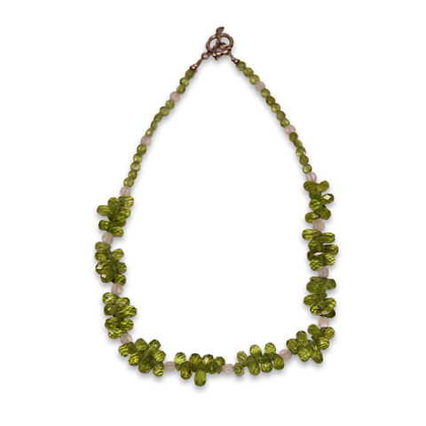 Peridot and Moonstone Necklace