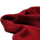 Garnet Red Merino Wool & Silk Scarf