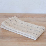 Oatmeal Navy Stripe Handwoven Kitchen Towel
