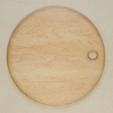 Round Bird's-Eye Maple Cutting Board