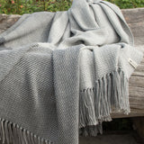 Four Corners Gray Alpaca Throw