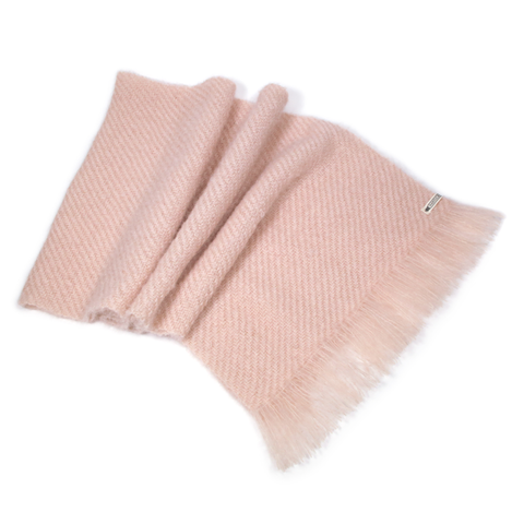Rose Quartz Handwoven Mohair Wrap