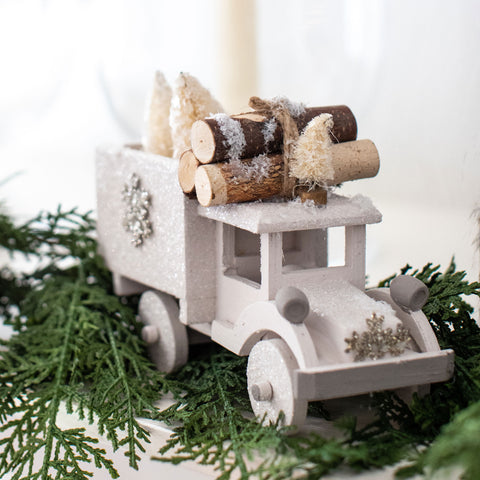 Winter Tree Glitter Truck