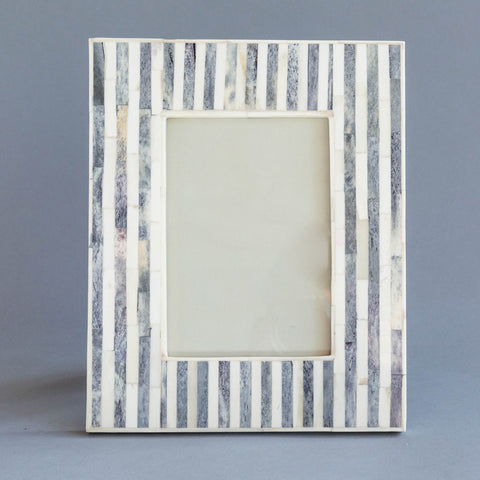 Gray and White Faux Bone 5x7 Frame