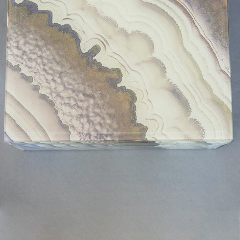 Marbled Earth Tone Acrylic Box