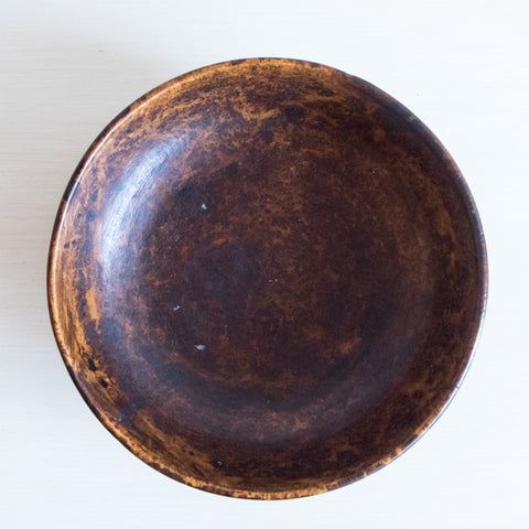 18th Century Handcarved Black Ash Burl Bowl