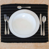 Black & Gray Pinstripe Placemat