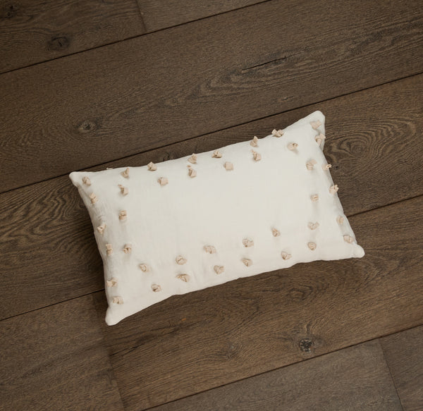 Ivory Knot Oblong Pillow