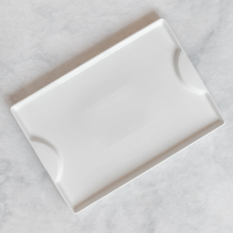 White Ceramic Rectangle Platter