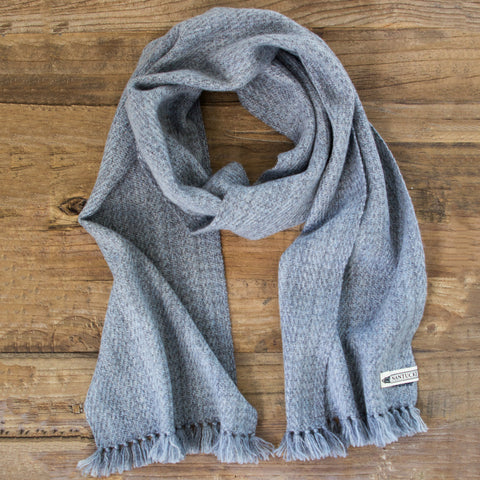 Slate Gray Handwoven Cashmere Scarf
