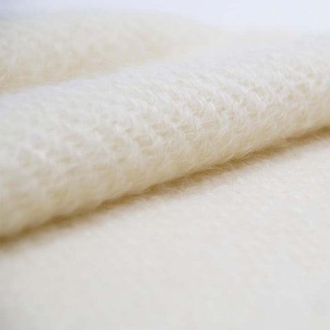 Ivory Handwoven Mohair Wrap