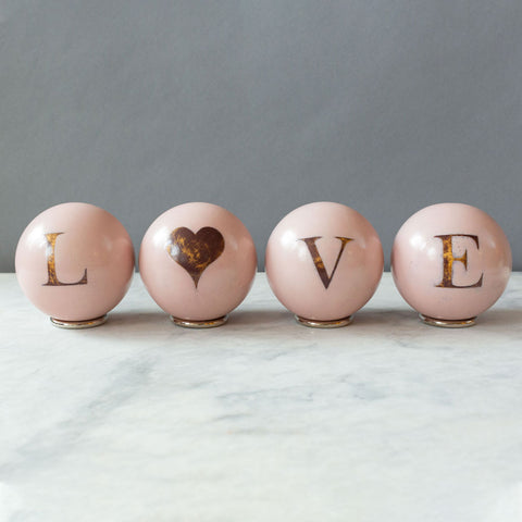 LOVE Decorative Spheres