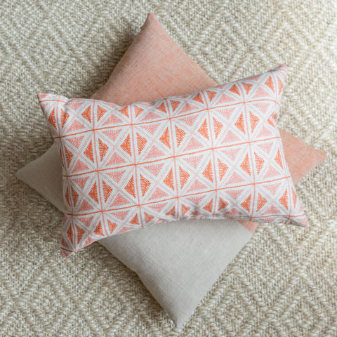 Citrus Block Print Pillow