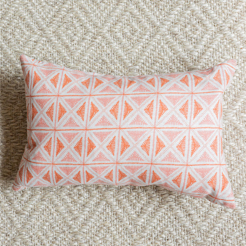 Coral Lumbar Pillow