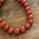Burnt Red Carnelian Necklace