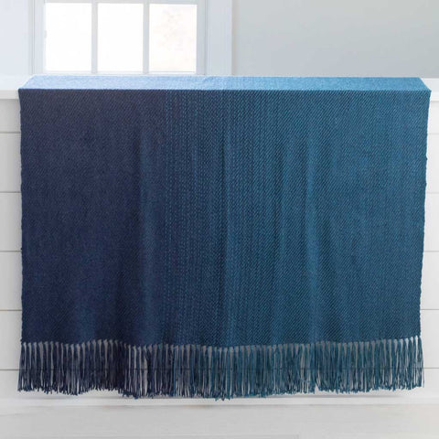 Water Study III Handwoven Alpaca Throw