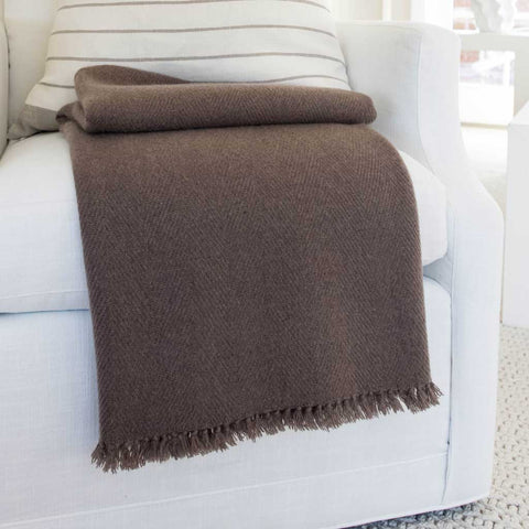 Sanford Handwoven Cashmere Throw