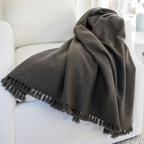 Loden Handwoven Cashmere Throw