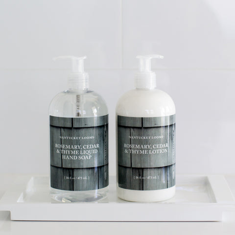 NEW 16oz Rosemary, Cedar & Thyme Liquid Soap & Lotion