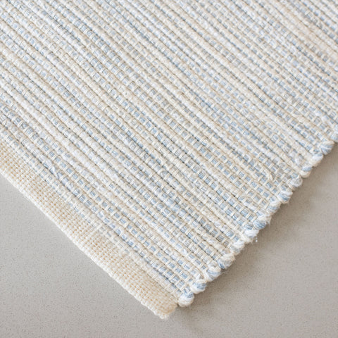Sky Blue & Gray Table Runner