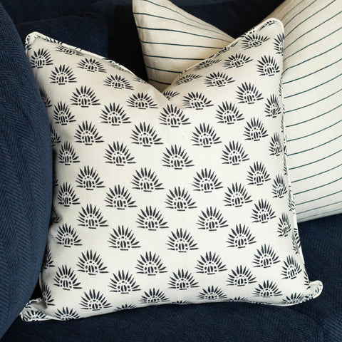 Navy Ray Pillow