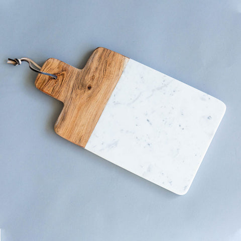 Mango Wood & Marble Cutting Board
